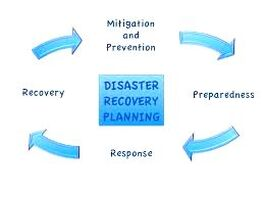 Disaster and recovery plan graphic